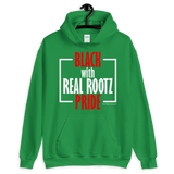 """Black Pride"" Unisex Hoodie (Red and White Lettering)"