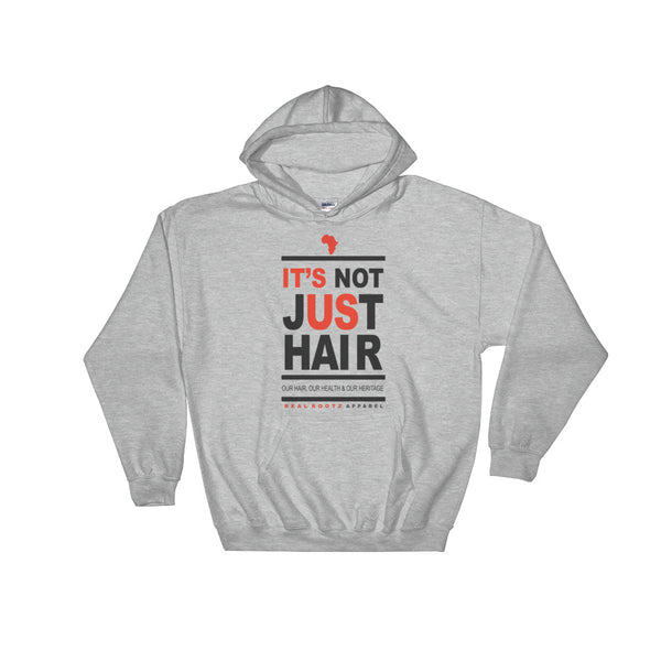 """It's Not Just Hair"" Men's Hooded Sweatshirt (Black Lettering)"