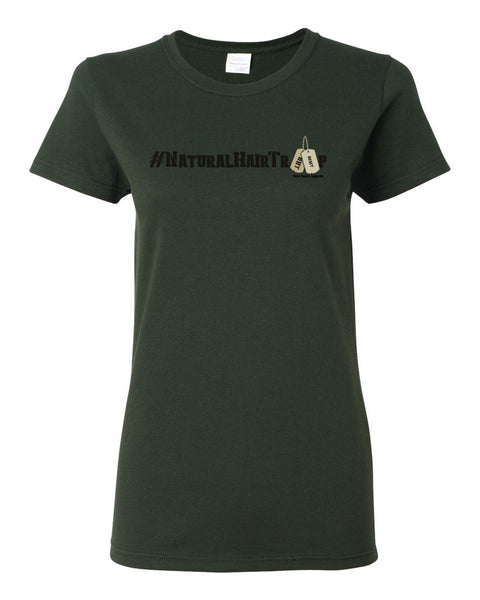 "Natural Hair Troop ""Army"" Women's T-Shirt"