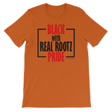 """Black Pride"" Men's T-Shirt (Red and Black Lettering)"