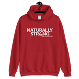 """Naturally Strong"" Unisex Hoodie (White Lettering)"