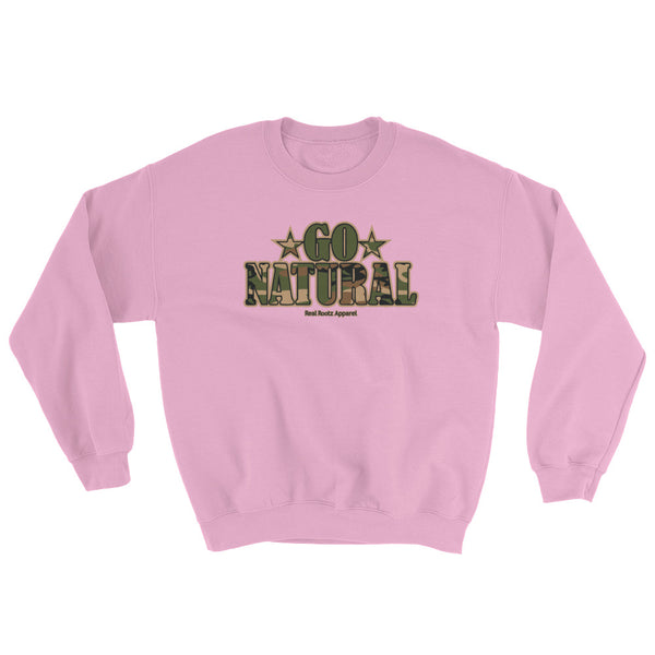 "Go Natural ""Green Camouflage"" Women's Sweatshirt"