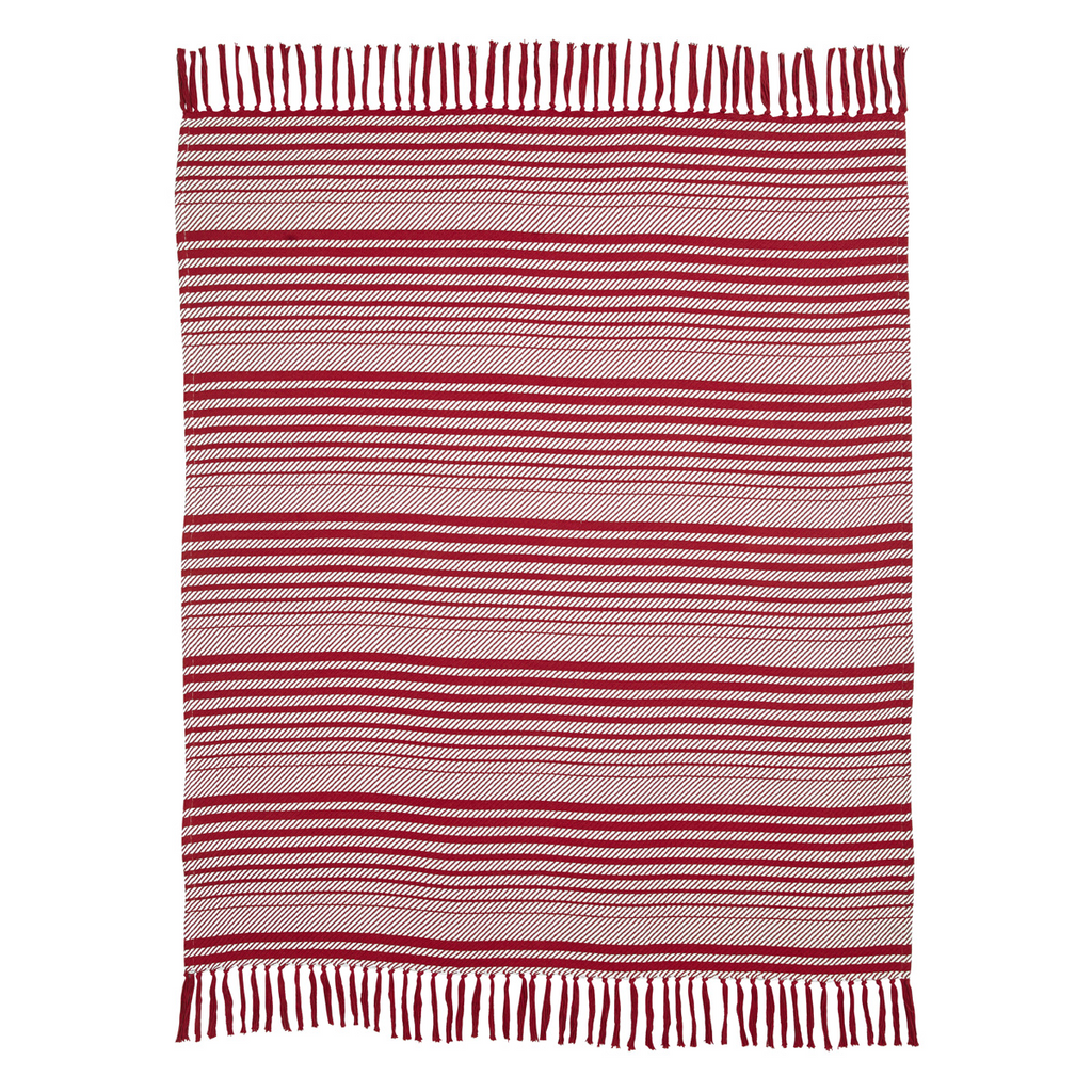 Whimsical Candy Cane Stripe Throw