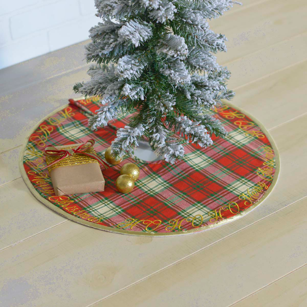 "HO HO Holiday Tree Skirt - 21"" NOT AVAILABLE"