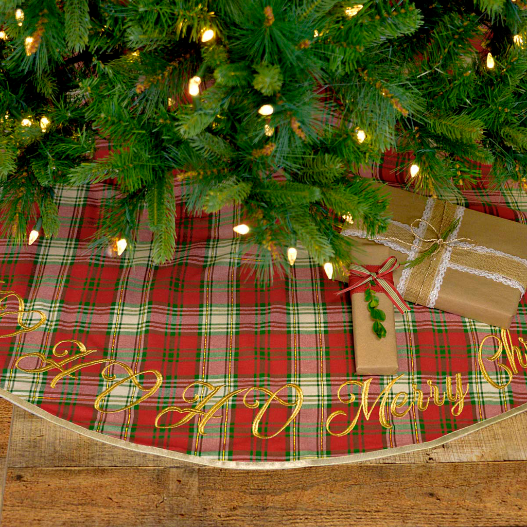 HO HO Holiday Tree Skirt - 55""
