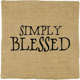 Simply Blessed Pillow Cover