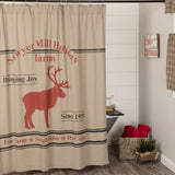Sawyer Mill Reindeer Shower Curtain