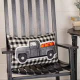 Annie Buffalo Black Check Pumpkin Truck Pillow