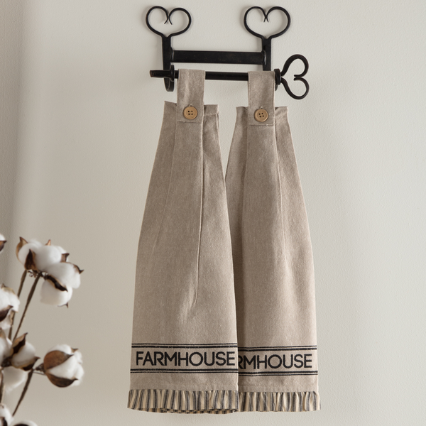 Sawyer Mill Charcoal Farmhouse Kitchen Towel