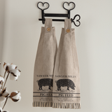 Sawyer Mill Charcoal Pig Looped Kitchen Towel