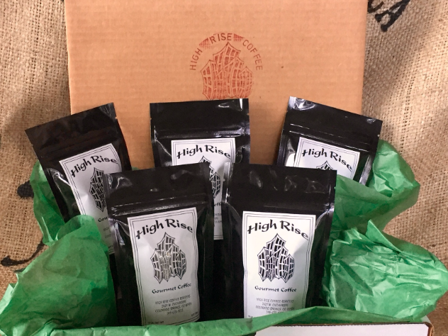 High Rise Coffee Roasters Colorado Springs, CO  - western hemisphere coffee sampler