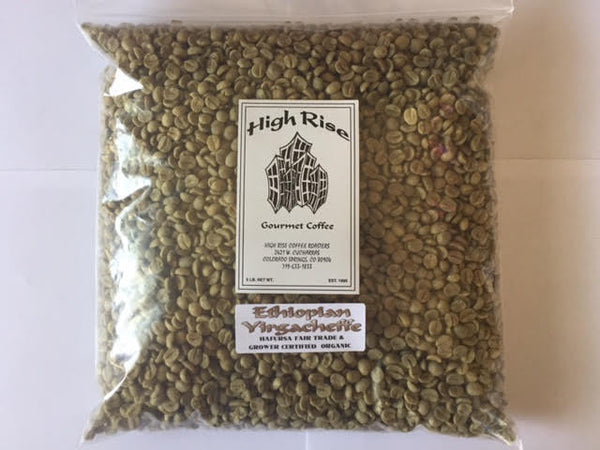 High Rise Coffee Roasters Colorado Springs, CO - 3lb Ethiopian Harfusa green beans - organic coffee