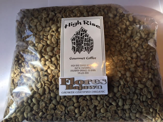 High Rise Coffee Roasters Colorado Springs, CO  - green beans  - organic coffee  - Flores Bajawa