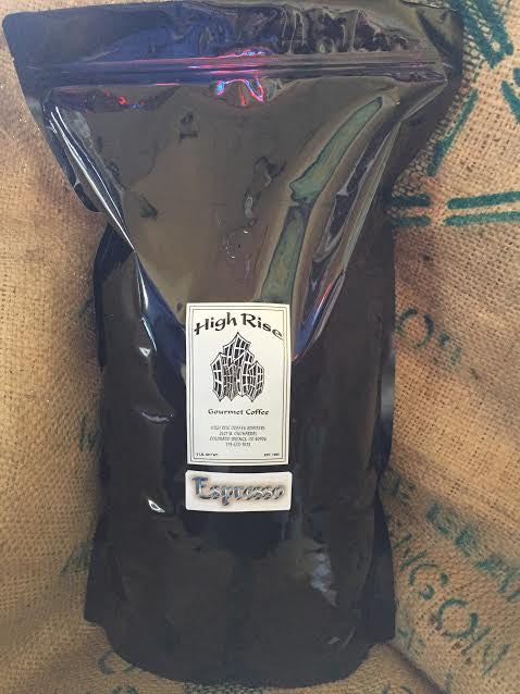 High Rise Coffee Roasters Legendary Espresso - 5 lb bag of fresh roast colorado coffee