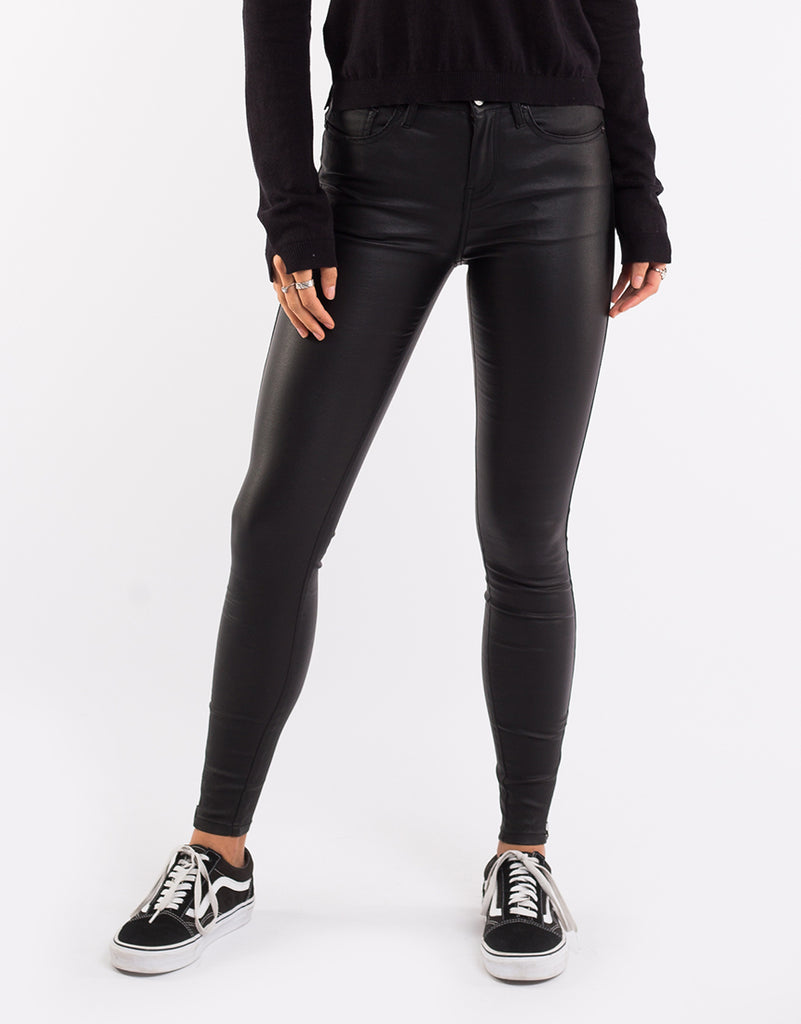 Isabella Ankle Grazer Black Coated Denim