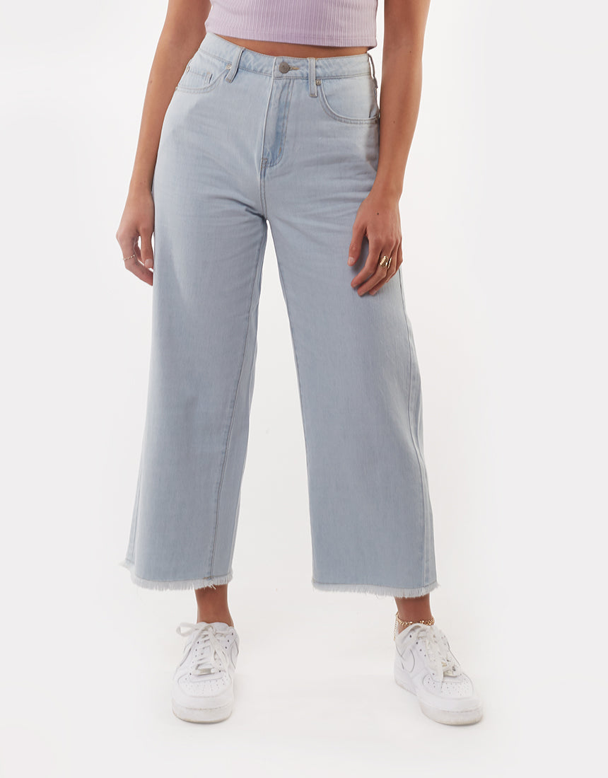 All About Eve Clothing GRACIE DENIM CULOTTE - LIGHT BLUE