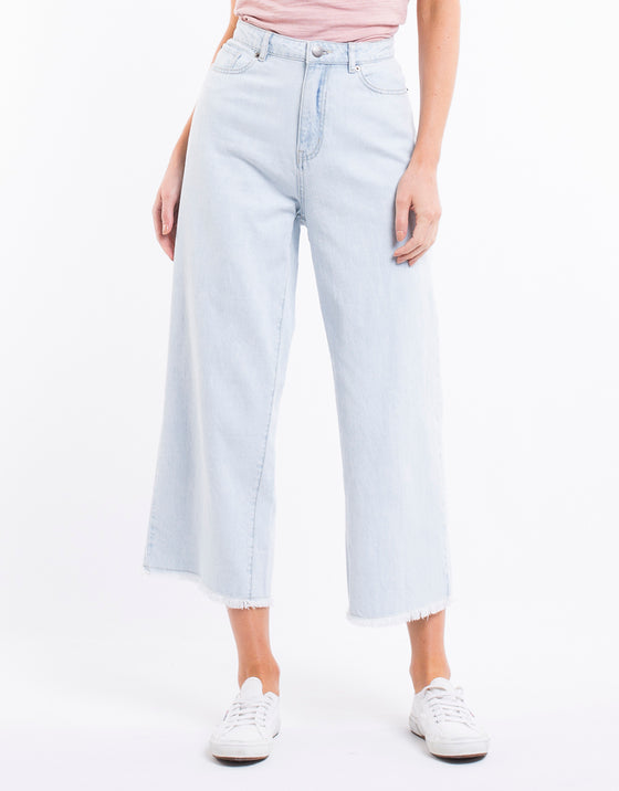 GRACIE DENIM CULOTTE - SUPER BLEACH DENIM