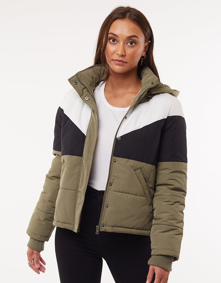 RAPID PANEL PUFFER - MULTICOLORED
