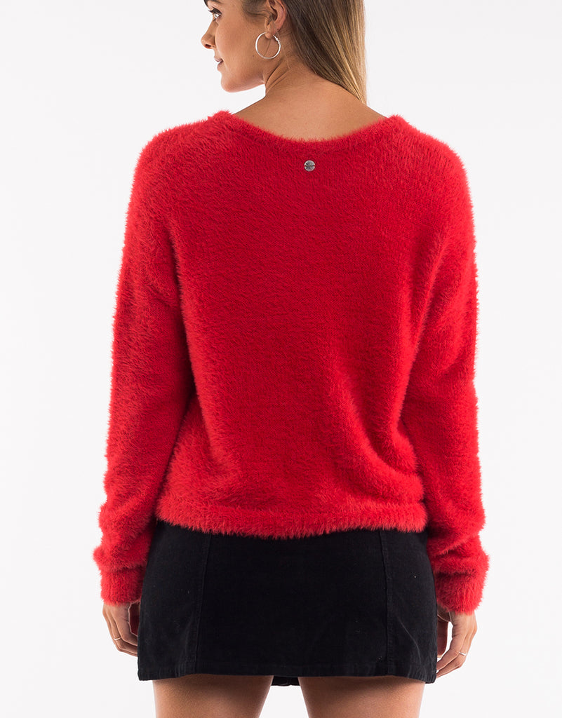 MORGAN KNIT - RASPBERRY RED