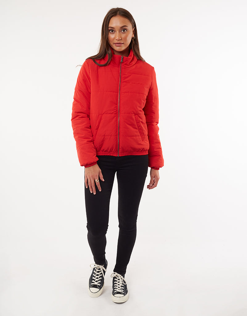 AMBER PUFFER JACKET - RED