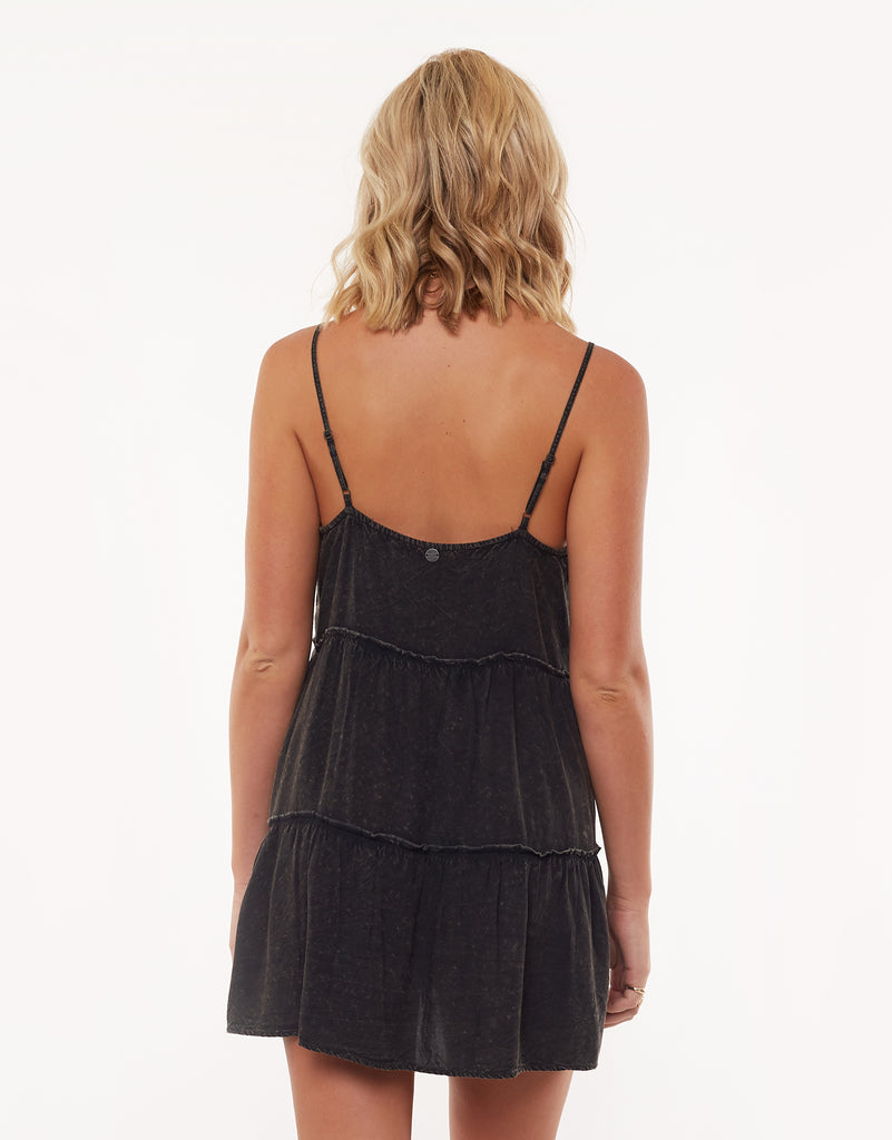 Supple Washed Dress Black
