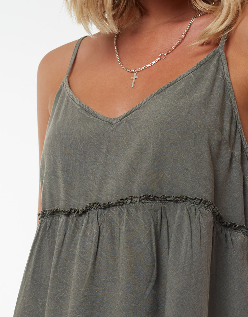 SUPPLE WASHED CAMI - KHAKI