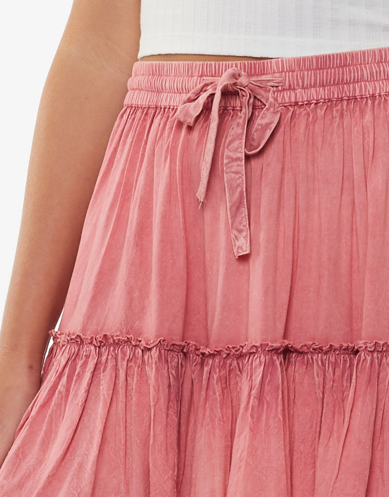 SUPPLE WASHED SKIRT - DUSTY PINK