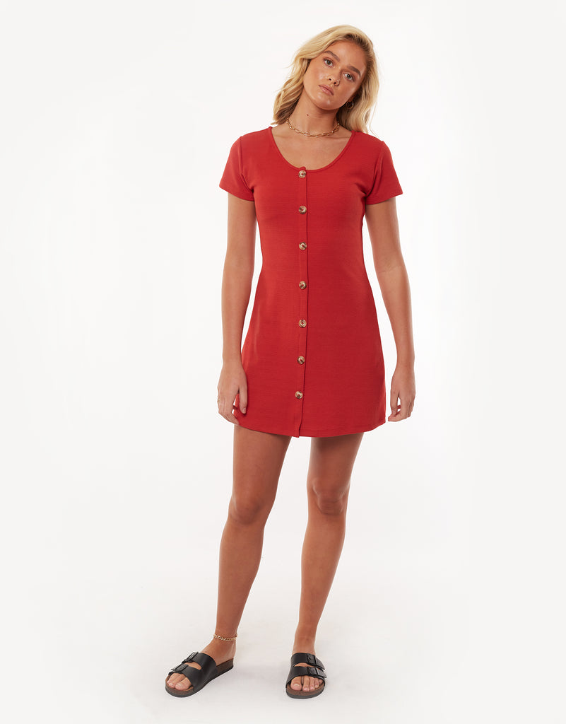 OLD SCHOOL DRESS - RED