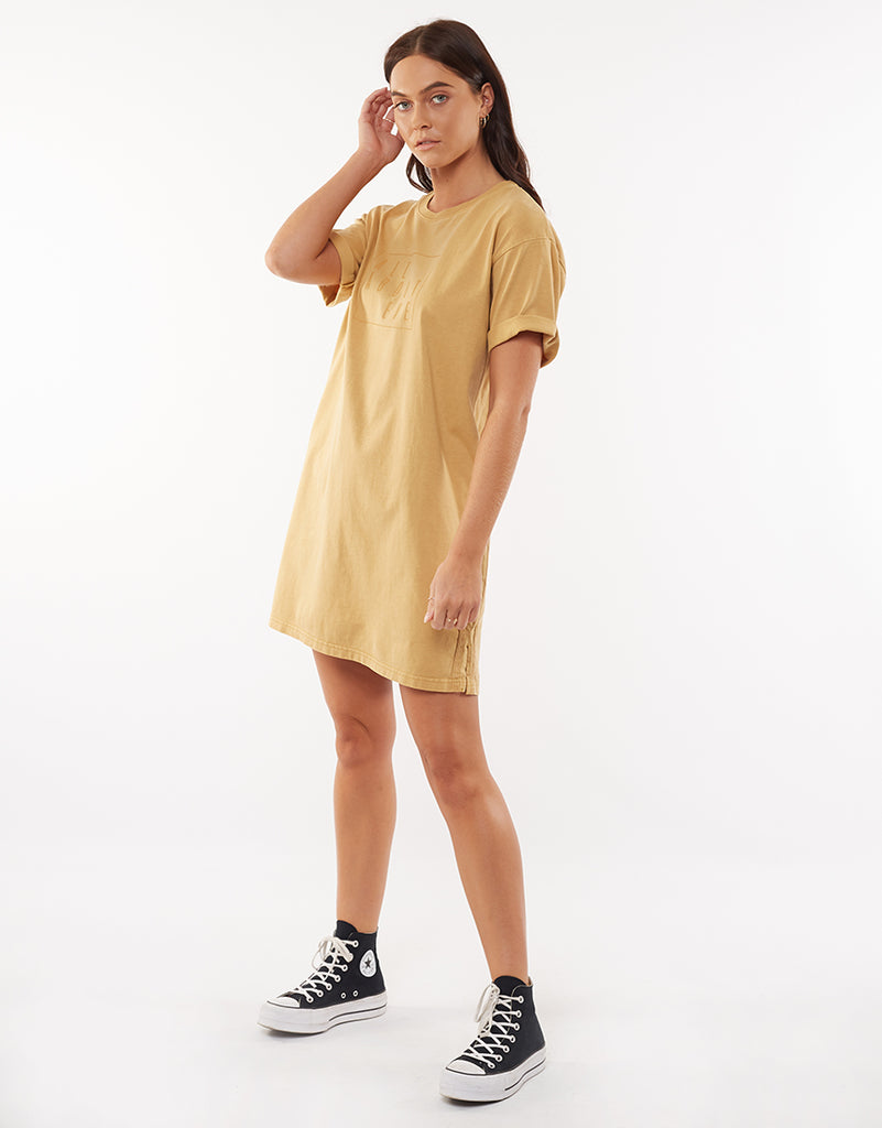 TAPED JERSEY DRESS - GOLD