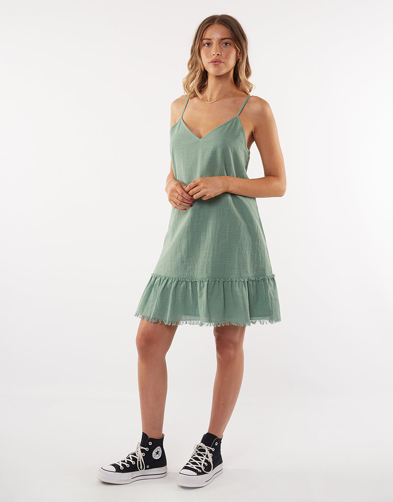 BEACHY DAY DRESS - SAGE