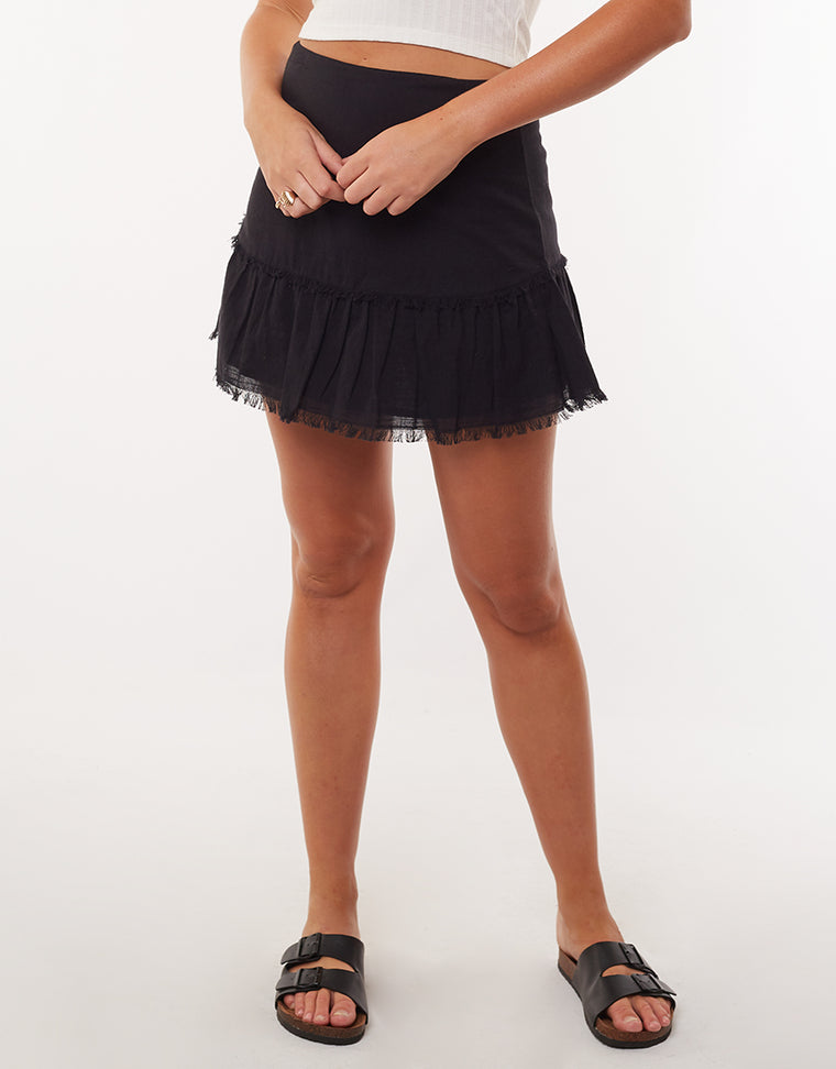 Beachy Mini Skirt Black