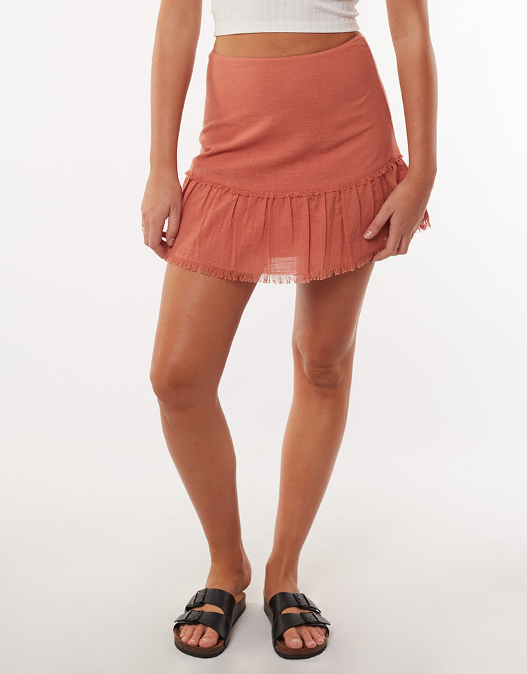 BEACHY MINI SKIRT - COPPER