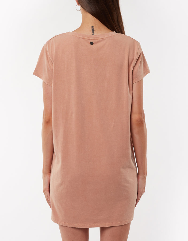 EVE RELAXED TEE DRESS - BRONZE