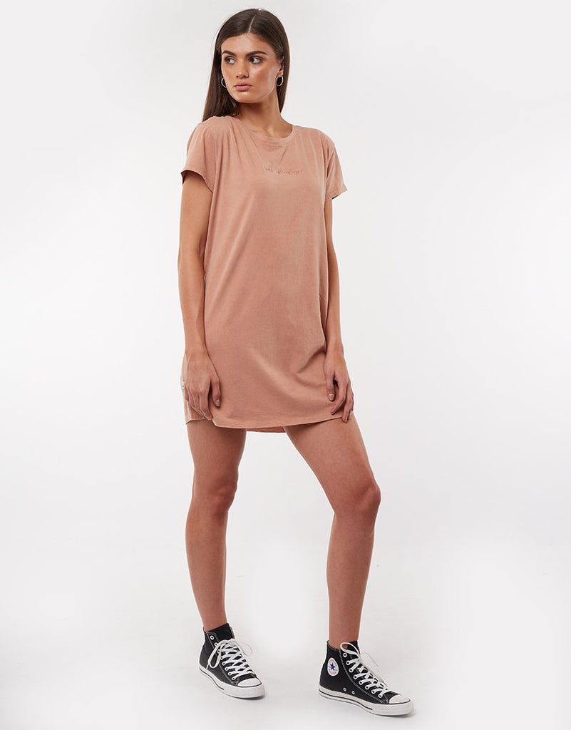 Eve Relaxed Tee Dress Bronze