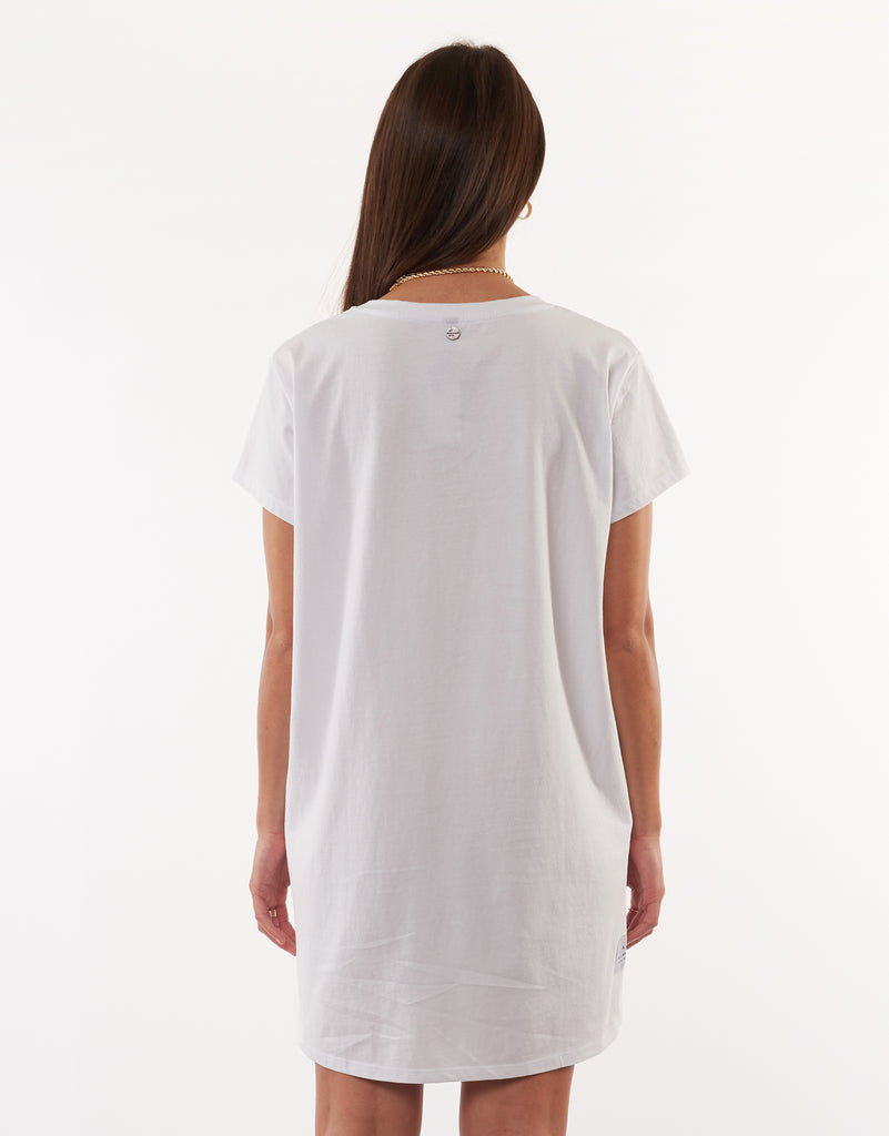 EVE RELAXED TEE DRESS - WHITE