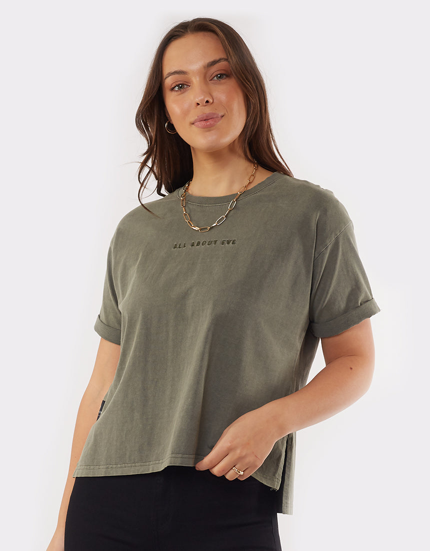 All About Eve Clothing AAE WASHED TEE - KHAKI