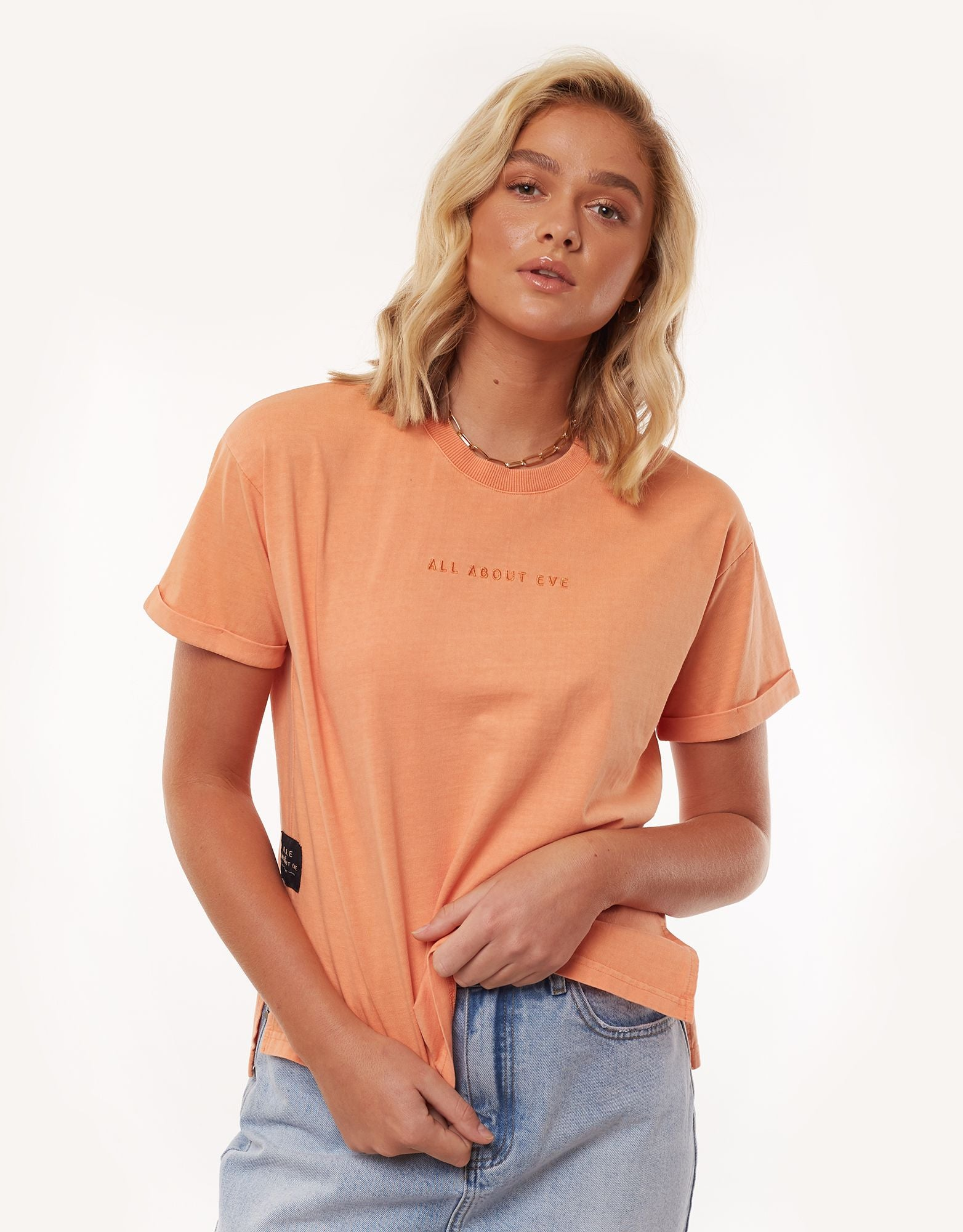 All About Eve Clothing AAE WASHED TEE - PEACH