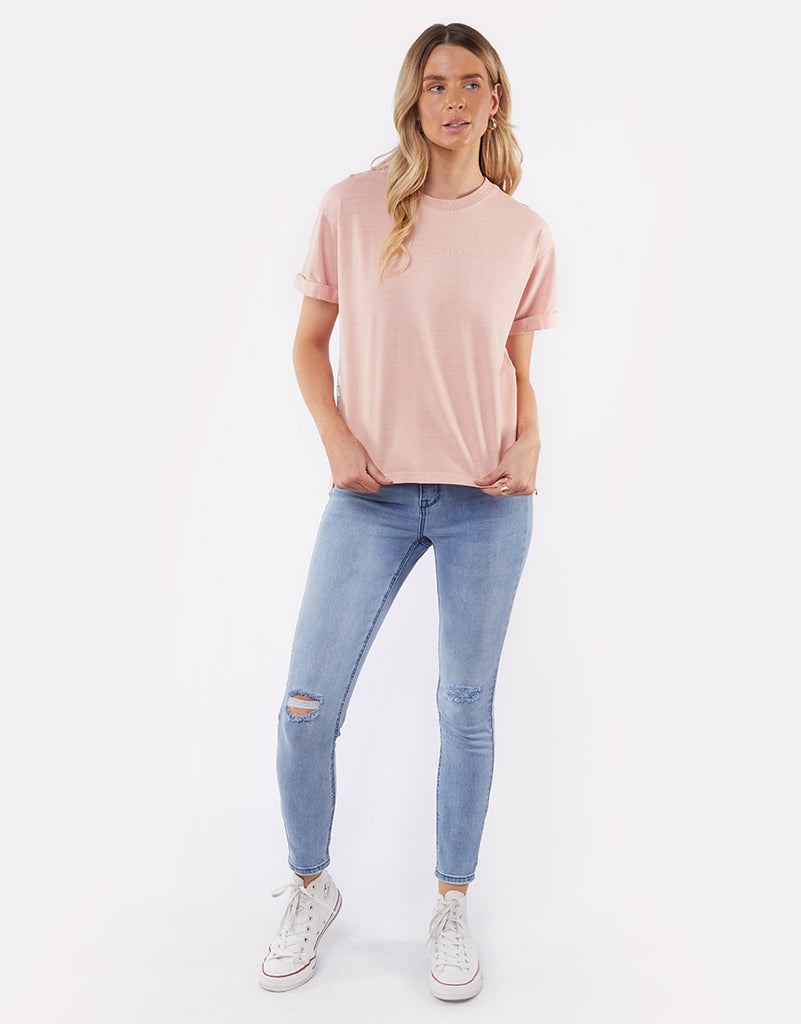 ALL ABOUT EVE WASHED TEE - PINK