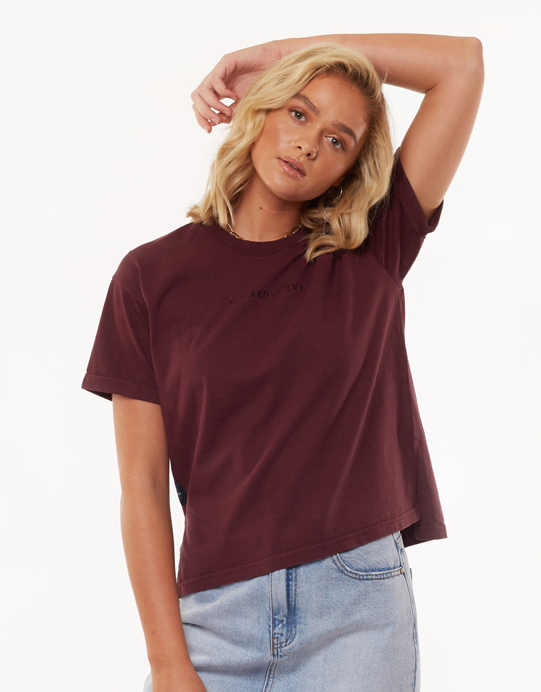 All About Eve Washed Tee Port