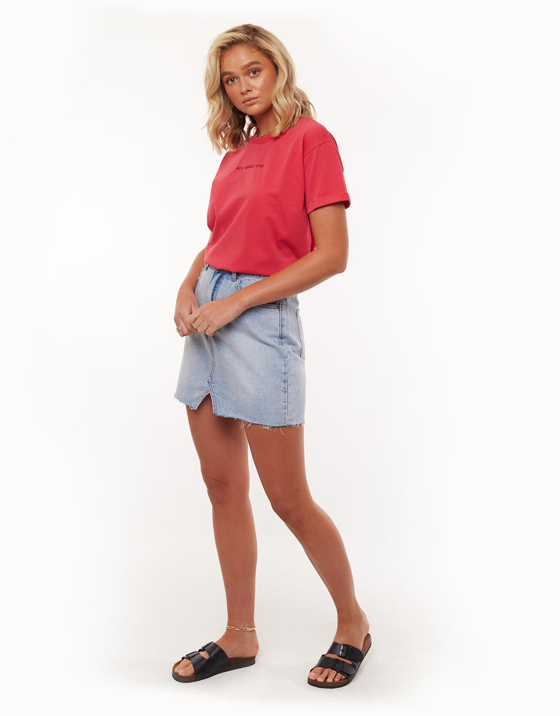 All About Eve Washed Tee Rose