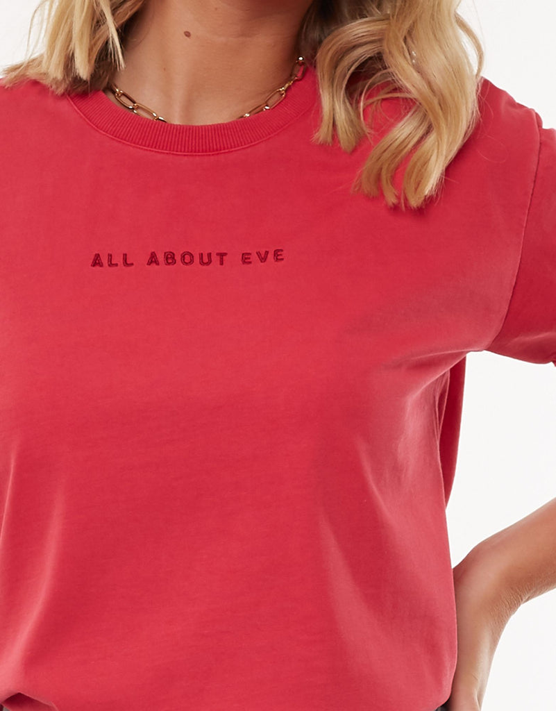 AAE WASHED TEE - ROSE