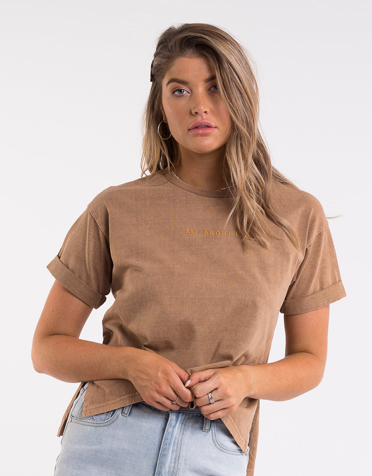 EVE WASHED TEE - TAN