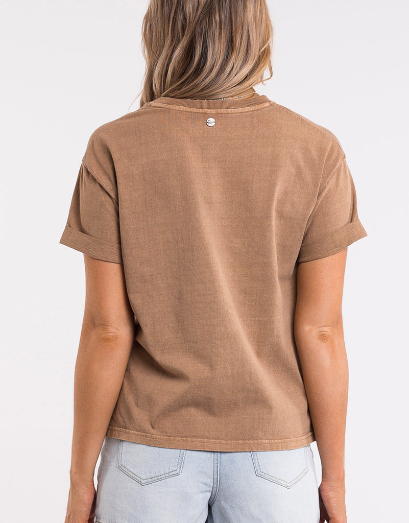 ALL ABOUT EVE WASHED TEE - TAN