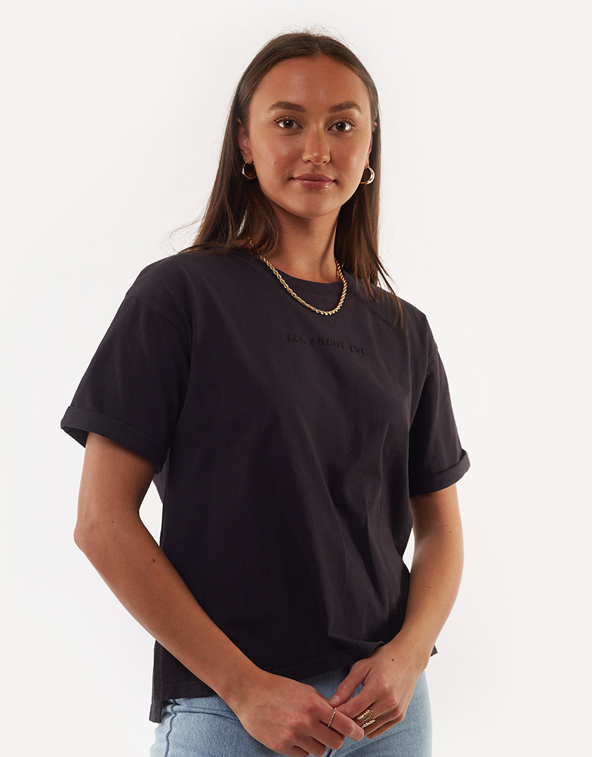 All About Eve Clothing AAE WASHED TEE - WASHED BLACK