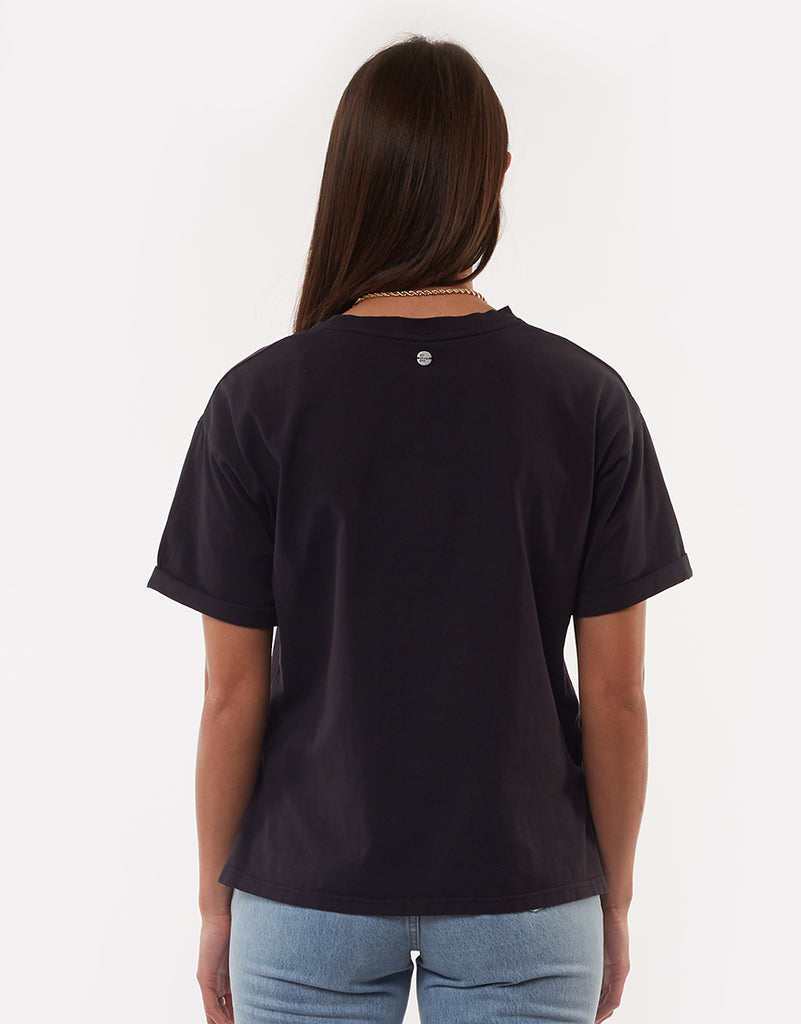 All About Eve Washed Tee Washed Black