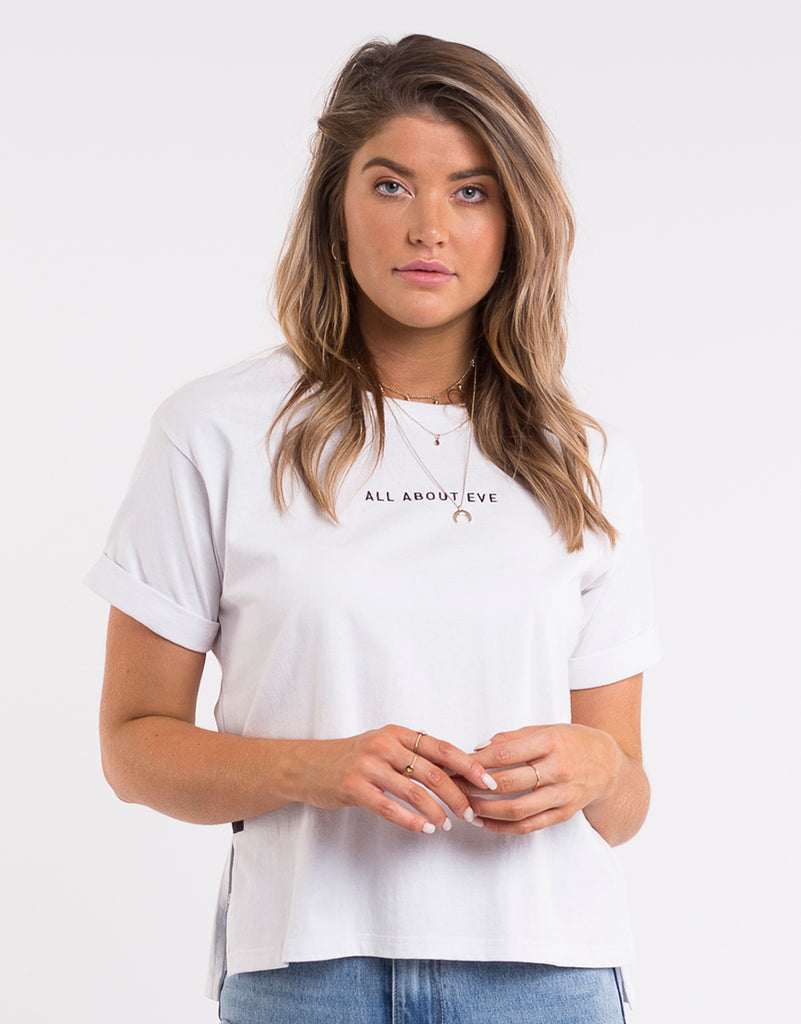 EVE WASHED TEE - WHITE