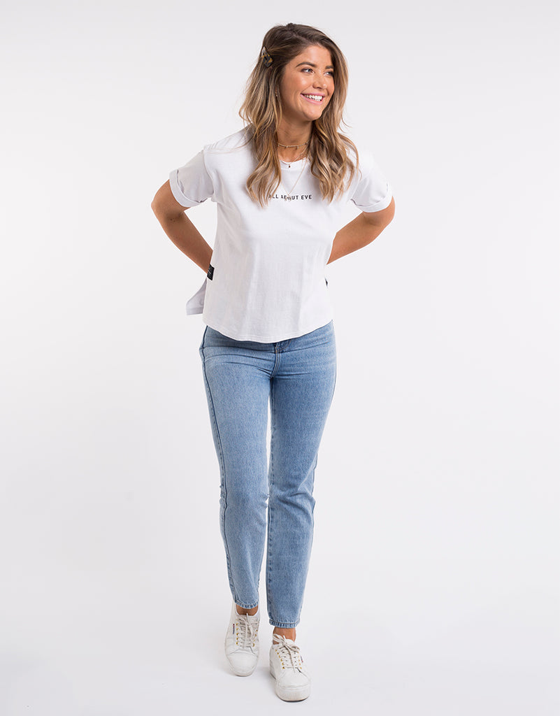 All About Eve Washed Tee White