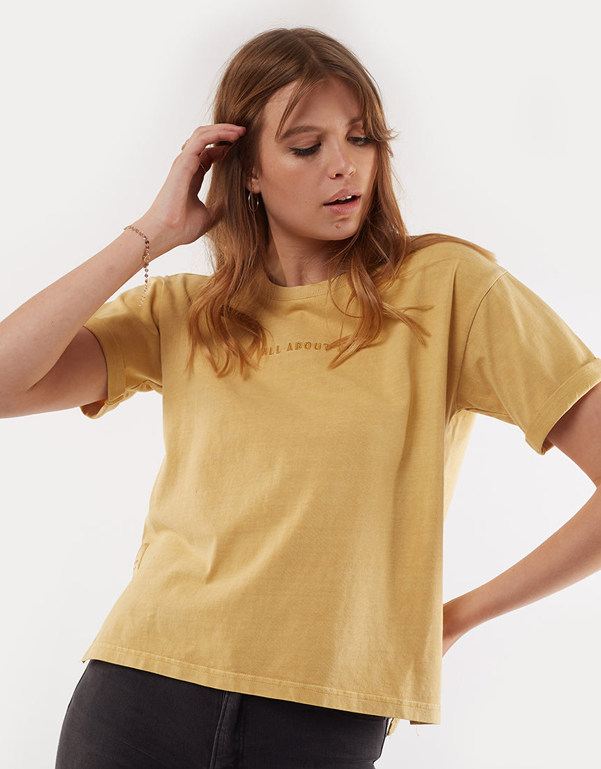 All About Eve Clothing AAE WASHED TEE - YELLOW