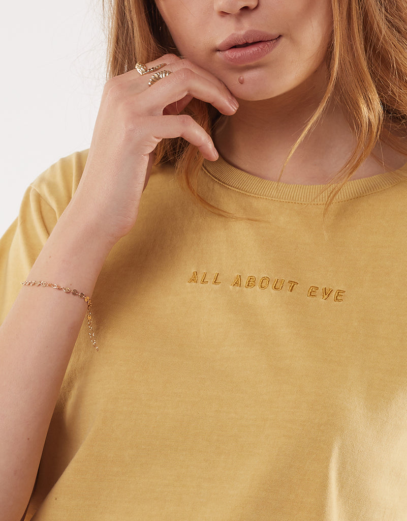 AAE WASHED TEE - YELLOW