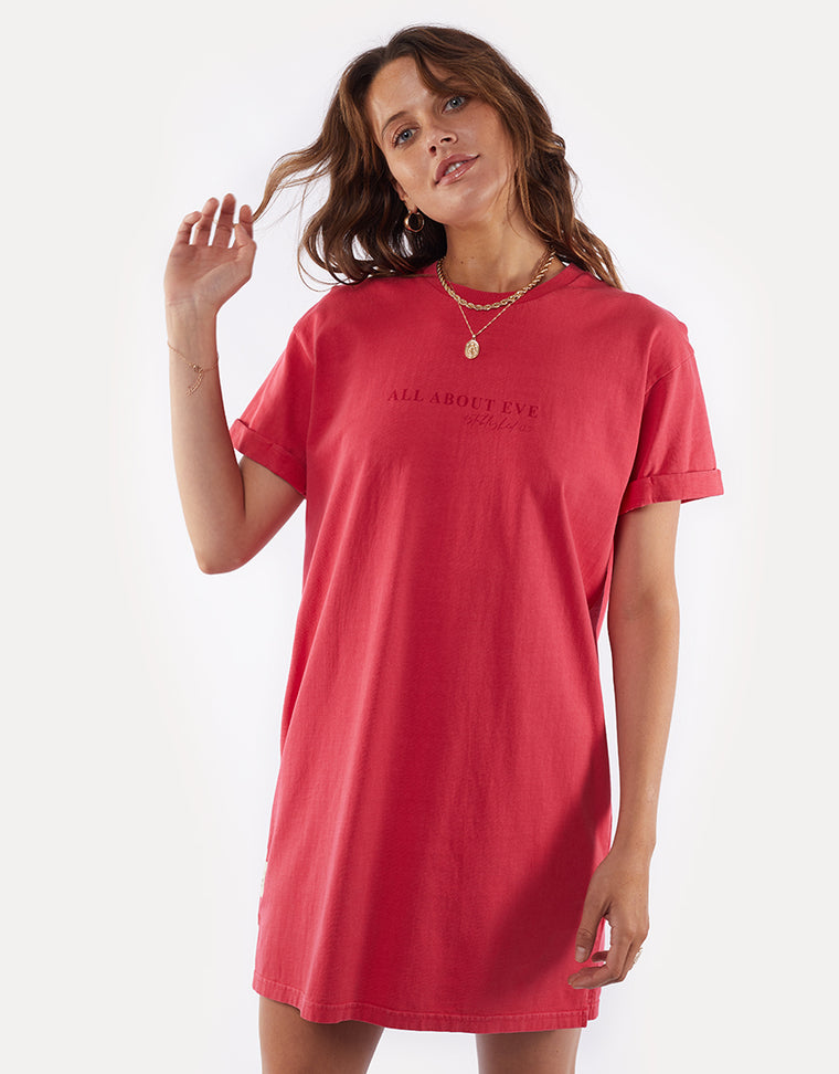 All About Eve Washed Tee Dress Rose